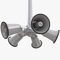 3D model outdoor broadcast horn pole