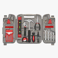 Photorealistic Household Precision Tool Set With Wrenches Pliers Grip Screwdriver Ratchet