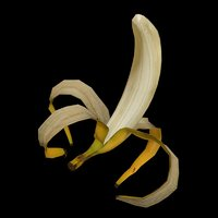 rigged banana fruit model