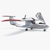 Amphibious Light Sport Aircraft Icon A5 Rigged 3D Model
