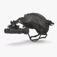 ballistic helmet 3D model