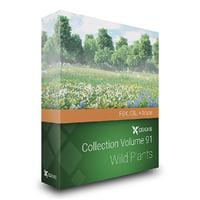 Wild Plants 3D Models Collection FBX OBJ