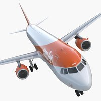airbus a321 easyjet airline 3D model