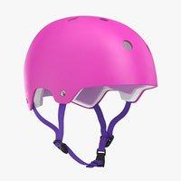 skateboard helmet pink 3D