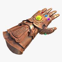 3D infinity gauntlet marvel