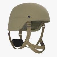 kevlar helmet tan 3D model