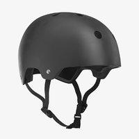 3D model skateboard helmet pure black