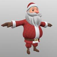 cartoon santa clause 3D model