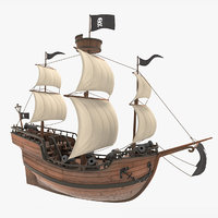 Cartoon Galleon