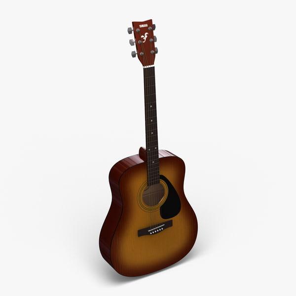 acoustic guitar yamaha f310 3d 3ds