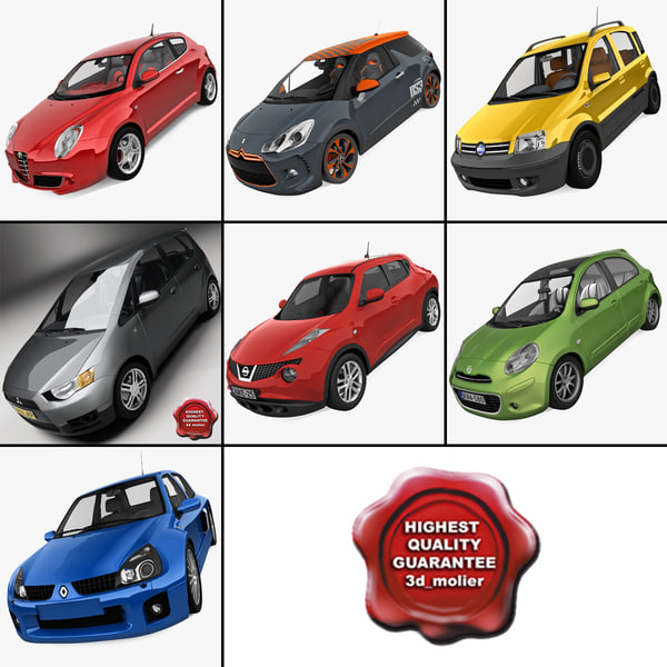 3ds max small cars 3