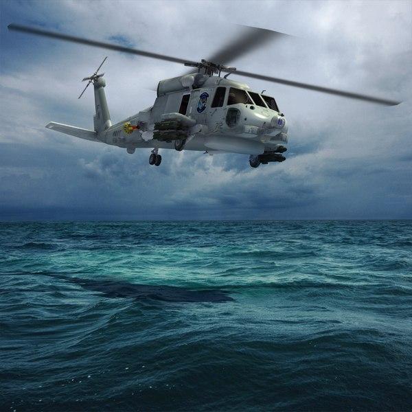 mh-60r strikehawk helicopter 3d model