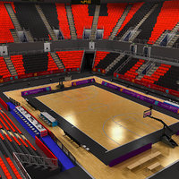 basketball arena london 3d model