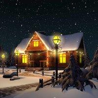 Winter Snow Christmas Scene