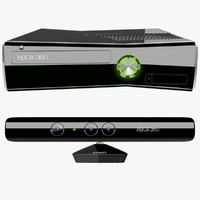xbox 360 s kinect 3d model