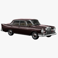 1965 classic w111 fintail 3d model