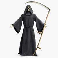 3d obj death reaper scythe