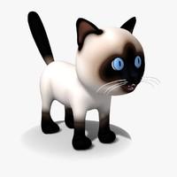 Cartoon Cat 01 Siamese Kitty