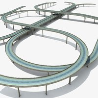 highway set bridges overpass max