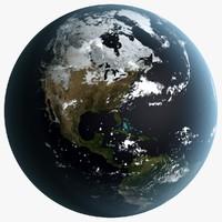 3d earth season planet