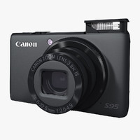 3d model of canon s95 digital camera