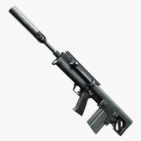 Keltec RFB With Silencer MP7A1