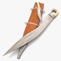 falcata sword 3d model