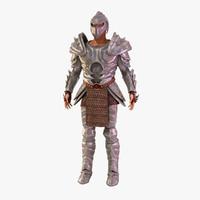 knight warrior gauntlet 3d model