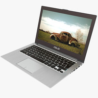 3d asus ultrabook metal model