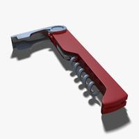 3d corkscrew handle blade
