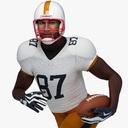 football player 3D models