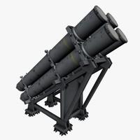 harpoon launcher mk 141 3d model