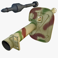 panzerschreck 54 rocket launcher 3d c4d