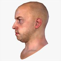 realistic human male head max