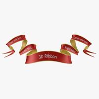 3d ribbon model