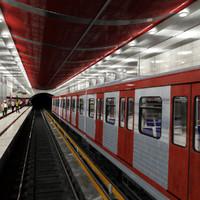 Subway - Metro Station With Train