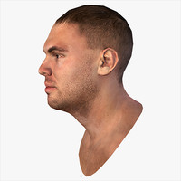3d realistic human male head model