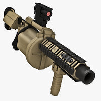3dsmax m32 multiple grenade launcher