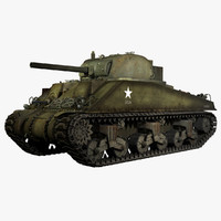 WWII M4A4 Sherman V Early Production Medium Tank