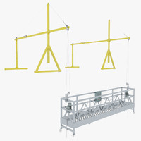 max suspended scaffolding rigged