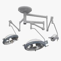 3d medical operating lights model