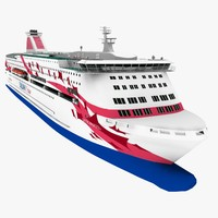 3d 3ds cruise ferry
