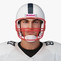 football player character rigging c4d