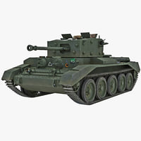 3d model of britain cruiser wwii tank