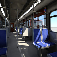 Subway - Metro Train 1 Vray