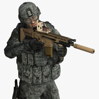 Military Male US Soldier Set 1