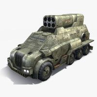 max low-poly rocket launcher truck