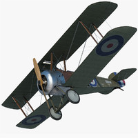 sopwith f 1 camel fighter 3d max