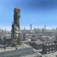 Sci-Fi City Cityscape