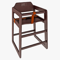 3d model finish stacking chair winco